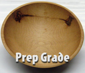 Prep Grade Wood Bowl